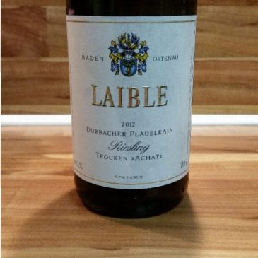"Andreas Laible, Baden – Durbacher Plauelrain Riesling ""Achat"" trocken 2012"