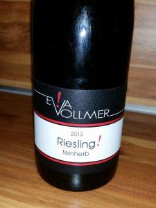 Eva Vollmer, Rheinhessen – Riesling Feinherb! 2013