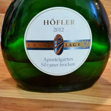 Höfler, Franken – Michelbacher Apostelgarten Silvaner trocken 2012