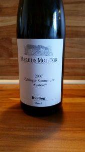 Markus Molitor, Mosel – Zeltinger Sonnenuhr Riesling Auslese trocken 2007