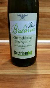 Kathrinenhof, Pfalz – Gimmeldinger Meerspinne Riesling Spätlese trocken 2012