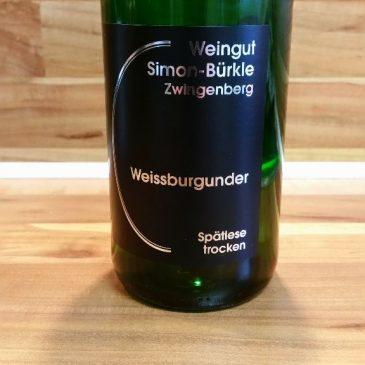 Simon-Bürkle, Hessische Bergstraße – Zwingenberger Steingeröll Weißburgunder Spätlese trocken 2013