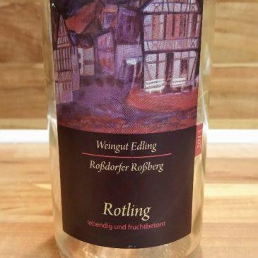 Edling, Hessische Bergstraße – Roßdorfer Roßberg Rotling trocken 2013