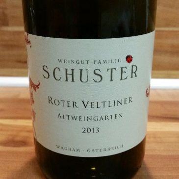 Schuster, Wagram, Österreich – Roter Veltliner Altweingarten trocken 2013