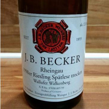 J. B. Becker, Rheingau – Wallufer Walkenberg Riesling Spätlese trocken 1998