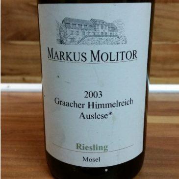 Markus Molitor, Mosel – Graacher Himmelreich Riesling Auslese * feinherb 2003