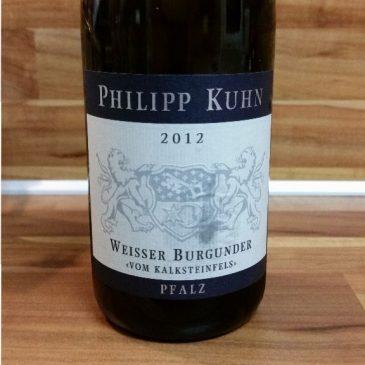 """Philipp Kuhn, Pfalz – Laumersheimer Weißer Burgunder """"Vom Kalksteinfels"""" trocken 2012"""