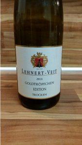 Lehnert-Veit, Mosel – Piesporter Goldtröpfchen Edition Riesling trocken 2013