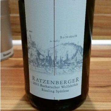 Ratzenberger, Mittelrhein – Bacharacher Wolfshöhle Riesling Spätlese fruchtig 2011