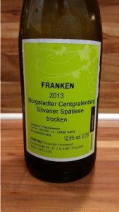 Farrenkopf, Franken – Bürgstadter Centgrafenberg Silvaner Spätlese trocken 2013