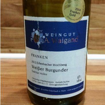 A. Waigand, Franken – Erlenbacher Hochberg Weißer Burgunder Spätlese Holzfass trocken 2012