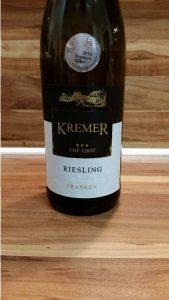 Kremers Winzerhof, Franken – Großheubacher Bischofsberg Riesling The First trocken 2013