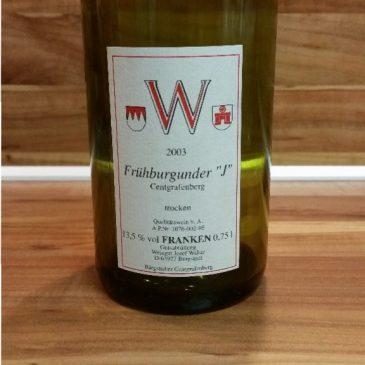 "Josef Walter, Franken – Bürgstadter Centgrafenberg Frühburgunder ""J"" trocken 2003"
