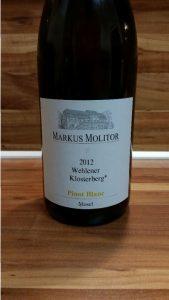 Markus Molitor, Mosel – Wehlener Klosterberg Pinot Blanc trocken 2012