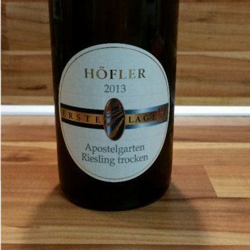 Höfler, Franken – Michelbacher Apostelgarten Riesling trocken 2013
