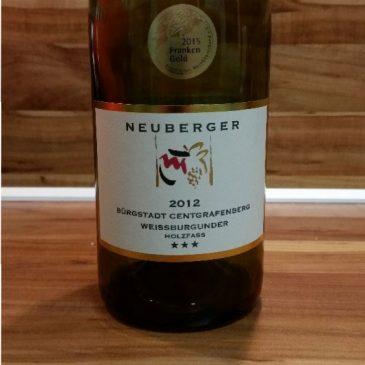 Neuberger, Franken – Bürgstadter Centgrafenberg Weißburgunder Spätlese Holzfass trocken 2012