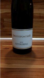 Dreissigacker, Rheinhessen – Bechtheimer Geyersberg Riesling trocken 2012