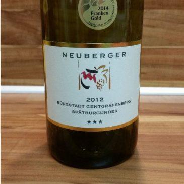 Neuberger, Franken – Bürgstadter Centgrafenberg Spätburgunder trocken 2012