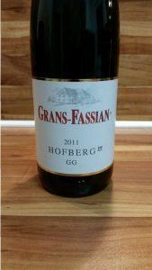 Grans-Fassian, Mosel – Dhroner Hofberg Riesling GG 2011
