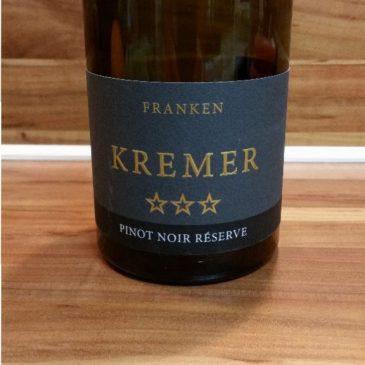 Kremers Winzerhof, Franken – Großheubacher Bischofsberg Pinot Noir Réserve trocken 2012