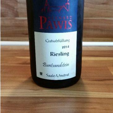 Pawis, Saale-Unstrut – Riesling Buntsandsein trocken 2014