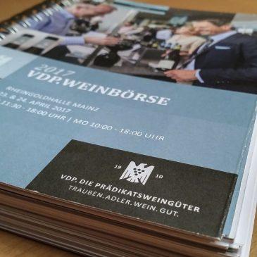 VDP.Weinbörse in der Rheingoldhalle Mainz am 23.04.2017 Teil 1