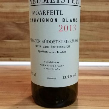 Neumeister, Südost-Steiermark, Österreich – Moarfeitl Sauvignon Blanc STK Große Lage trocken 2013