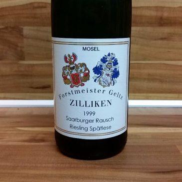 Forstmeister Geltz Zilliken, Mosel – Saarburger Rausch Riesling Spätlese fruchtig 1999