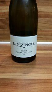 Benzinger, Pfalz - Kirchheimer Kreuz Weisser Burgunder trocken 2013