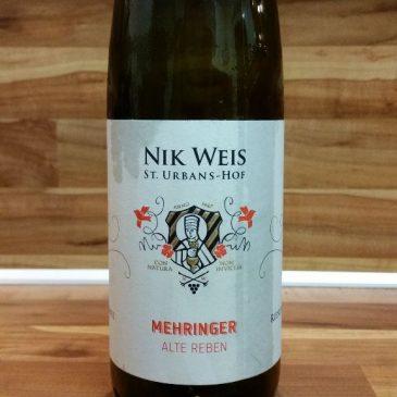 """Nik Weis St. Urbans-Hof, Mosel – Mehringer """"Alte Reben"""" Riesling 2015"""