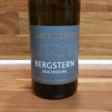 "Klaus Böhme, Saale-Unstrut – Dorndorfer Rappental Riesling ""Bergstern"" trocken 2016"