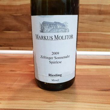 Markus Molitor, Mosel – Zeltinger Sonnenuhr Riesling Spätlese trocken/weiße Kapsel 2009