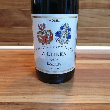 """Forstmeister Geltz Zilliken – Saarburger Rausch Riesling """"Diabas"""" feinherb 2012"""