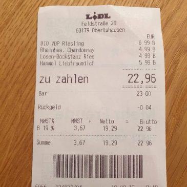 Realitätscheck 2019: Weinwoche bei Lidl – da Wein einkaufen, wo die meisten Deutschen es tun