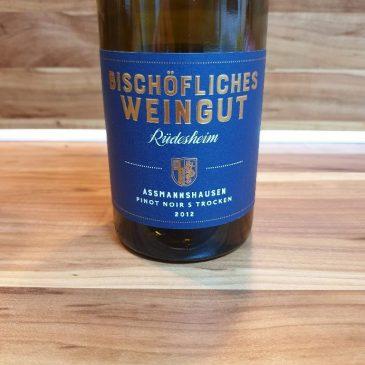 Bischöfliches Weingut Rüdesheim, Rheingau – Assmannshäuser Pinot Noir S 2012