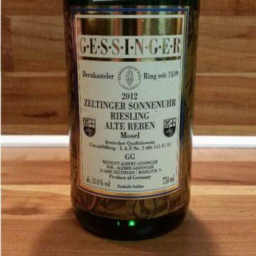 """Albert Gessinger, Mosel – Zeltinger Sonnenuhr Riesling """"Alte Reben"""" GG"""