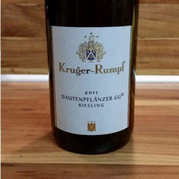 Kruger-Rumpf, Nahe – Münsterer Dautenpflänzer Riesling GG 2011