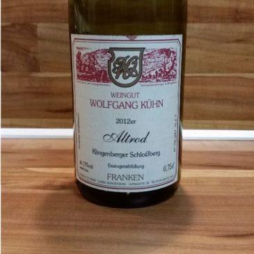 """Wolfgang Kühn, Franken – Klingenberger Schloßberg """"Altrod"""" Rotwein trocken 2012"""