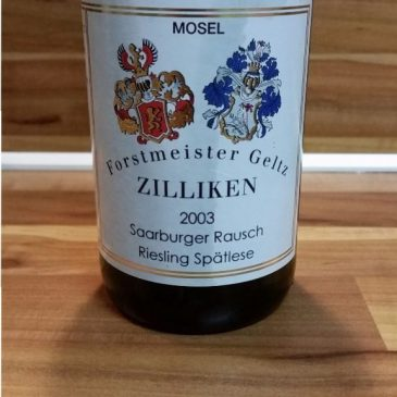 Forstmeister Geltz Zilliken, Mosel – Saarburger Rausch Riesling Spätlese fruchtig 2003