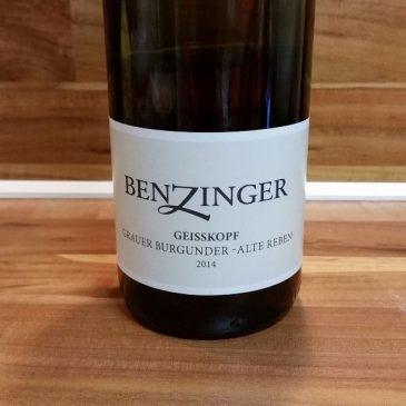 """Benzinger, Pfalz – Kirchheimer Geisskopf Grauer Burgunder """"Alte Reben"""" trocken 2014"""